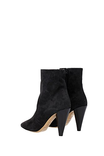 BO006815A015SFADEDBLACK Isabel Marant Chaussure mi montantes Femme Chamois Noir Noir