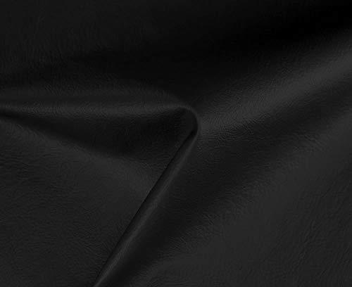 HAPPERS 0,50 Metros de Polipiel Especial Exterior para tapizar, Manualidades, Cojines o forrar Objetos. Venta de Polipiel por Metros. Diseño Náutica Color Negro Ancho 140cm