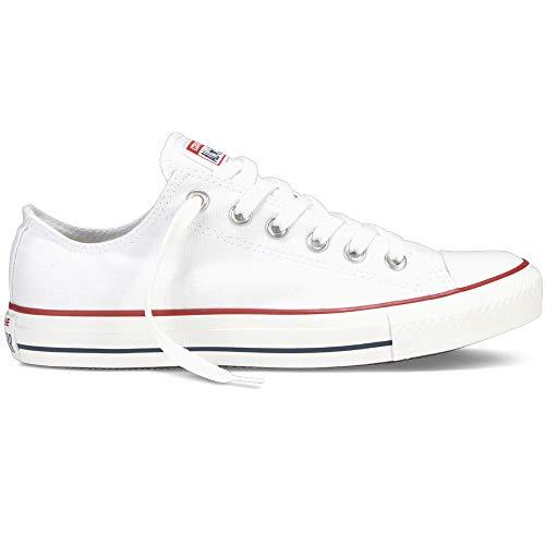 Converse Chuck Taylor All Star Classic CTAS Mujer para Hombre Zapatillas de Lona Unisex Zapatillas Deportivas con Pegatinas Cultz Blanco 36