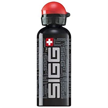 Sigg Siggnature Aluminium Water Bottle Black 0 6 Litre Amazon