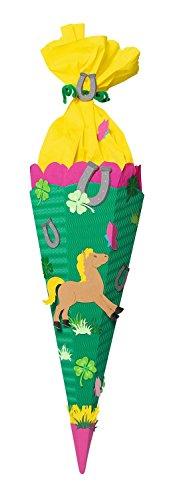 Ursus 9850002 - Schultüten Bastelset Pferd, 6-eckig, 68 cm, bunt