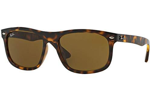 RAYBAN Herren Sonnenbrille RB4226, Shiny Havana/Darkbrown, One Size (56)