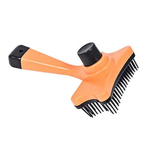Tianzhiyi Haustierausrüstung Haustier Hund Katze Haar Pelzpflege Verschütten Kammbürste Multifunktionale Kunststoff Haarentfernung Pinsel Massagekamm Größe (Color : Orange) -