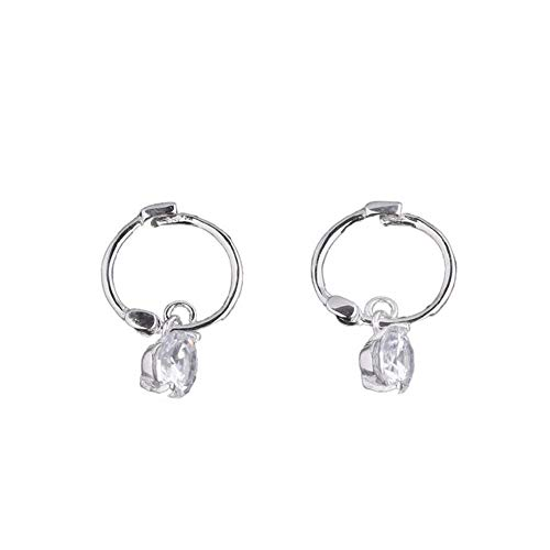 Orecchini in argento sterling 925 ins geometrie antivento hipster orecchini anello cerchio gelido zircone vento orecchini orecchini