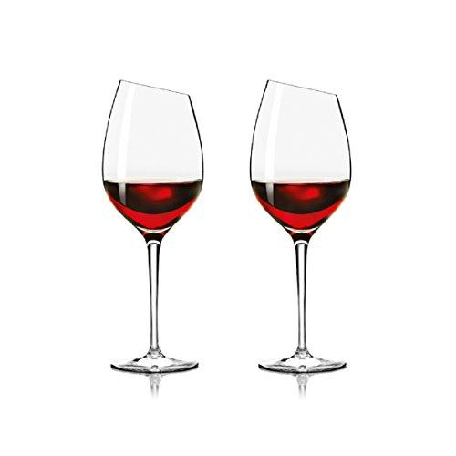 Set von 2EVA SOLO bordeaux rot Wein Glas, Mundgeblasenes Glas, 390ml, in Geschenkbox Eva Solo Set