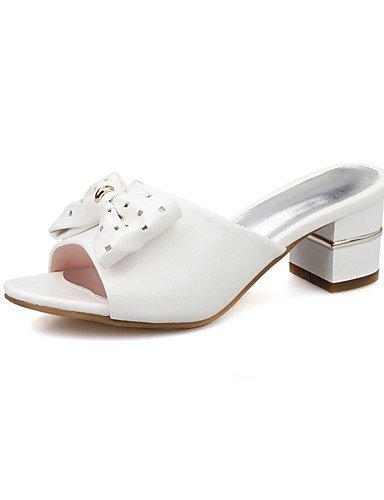 LFNLYX Chaussures Femme-Habillé / Décontracté / Soirée & Evénement-Rose / Blanc-Gros Talon-Talons-Sandales-Similicuir White