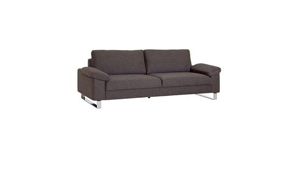 Sitzhã¶he Sofa | 3 Sitzer Sofa Mit Bezug Strukturstoff Braun Modell Iraklion