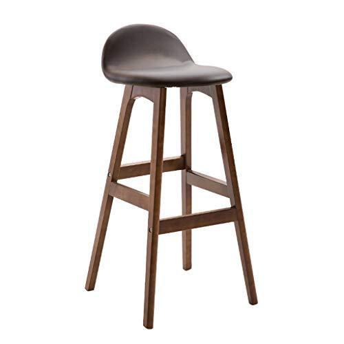 Dark Brown Counter (TXXM Stühle Barhocker nach Hause Massivholz hoher Hocker Barhocker Hocker Counter Café Hocker braun Multicolor (Farbe : Dark Brown-A))