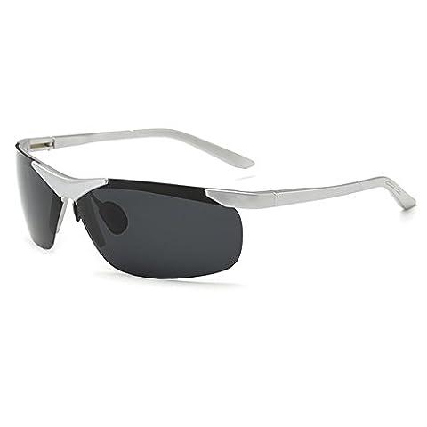 O-C Men's 2017 new stylish outdoor sports driving and aviator anti-reflective light quality sunglasses TAC UV 400 polarized (Alpine Man-kostüm)