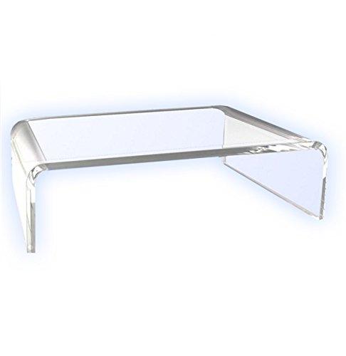 Unterbau / Podest / ................ Monitor-Ständer .................... Laptop-Ständer .... /TV-Erhöhung / Bildschirm-Standfuß / TV-Bank Aufsatz aus Acrylglas - Transparent 30 cm x 20 cm x 10 cm
