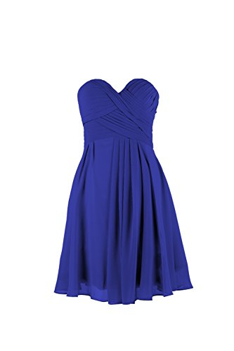 YiYaDawn -  Vestito  - linea ad a - Donna blu royal