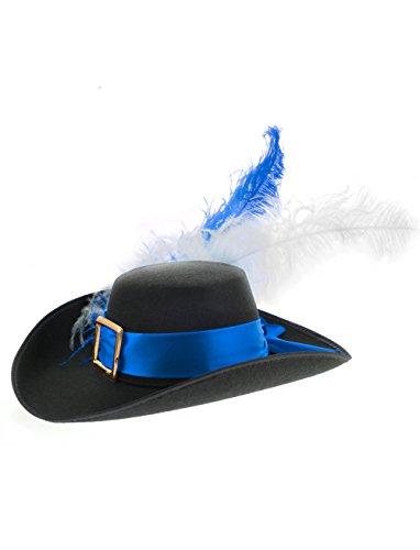 Deiters Musketier Hut Kinder blau/weiß