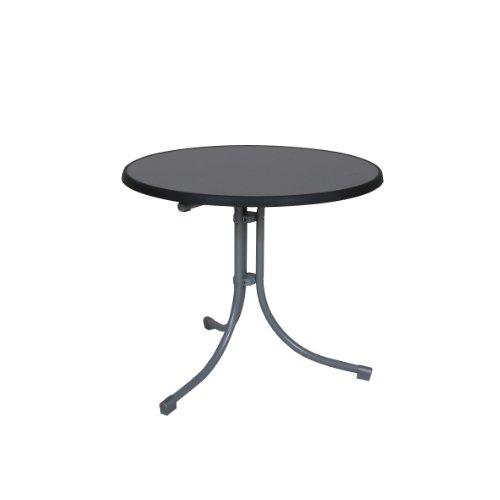 greemotion Klapptisch silber, Gartentisch mit witterungsbeständiger Sevelit-Tischplatte im...