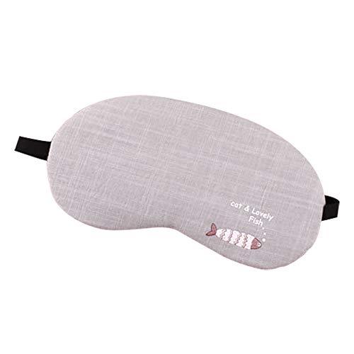 Leisial Einfach Schlafmasken Netter Schlaf Augenmaske Unisex Schlafmaske Reise Schlafbrille Nachtmaske mit Eisbeutel C