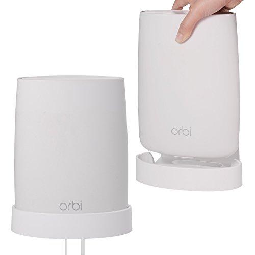OkeMeeo Für Orbi Wifi - Wandhalterung Für Netgear Orbi AC3000, AC2200, RBK30-100PES/RBK40-100PES/RBK43-100PES/RBK50-100PES/RBK53-100PES, Hergestellt aus Robustem ABS [Besser als Acryl] 2 Pack (2 Stück Wand-einheit)