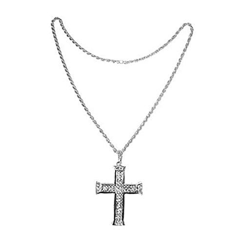 Fancy Ole - Kostüm Kette - Kreuz aus Metall, Silber