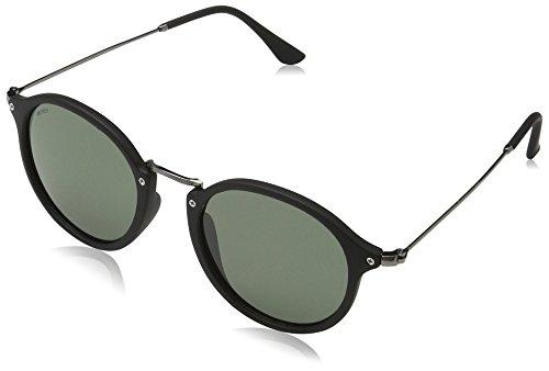 MSTRDS Unisex Spy Sonnenbrille, Schwarz (black/green 5151), Herstellergröße: one Size