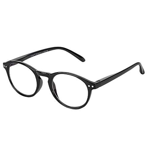 Cyxus Computerbrille mit blauem Licht und rundem Rahmen, gegen Ermüdung und Kopfschmerzen, für Damen und Herren Gr. One size, Black Frames