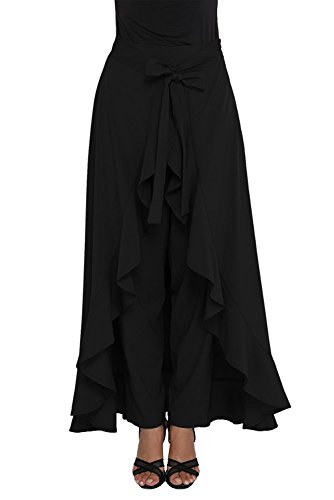 Stylish Ruffle Palazzo For Girl/Women plazza in all colour (black)
