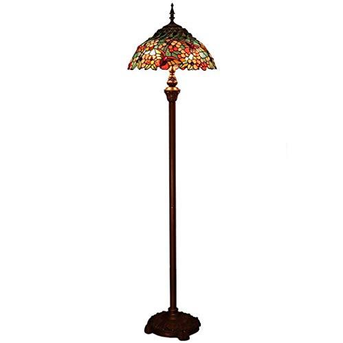 Tiffany Stehlampe Kupfer (Tiffany Style Stehlampe, European-Stained Glas Stehlampe mit Kupfer Zipper Switch, Schlafzimmer Wohnzimmer Hochzeit Geschenk Stehleuchte YDYG)