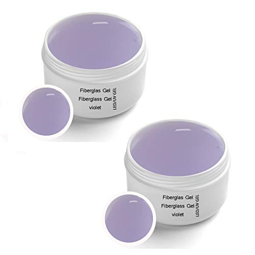 Scopri offerta per 2 x 30 ml Gel UV per LED in fibra di vetro Violet chiaro - Fibra di vetro UV-LED monofase in gel Violet trasparente 2x30ml
