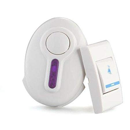 Gesto Baoji Plastic Wireless Remote Control Door Calling Bell (White)