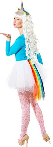 Pferdeschweif Kostüm - Orlob Regenbogen Einhorn Kostüm Set -