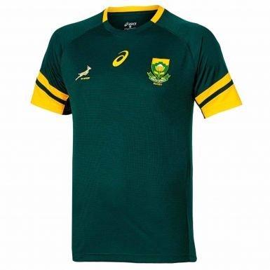Producto Oficial de Sudáfrica Springboks Rugby Camiseta de Asics, Unisex