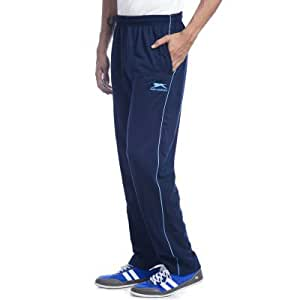 Shiv Naresh SNL 501 Polyester Track Pants, Men's Medium (Blue)