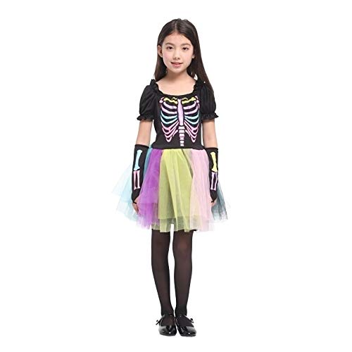MHPY HalloweenKostüm für Kinder Hexe Tier Prinzessin Mädchen Kind Kind Unheimlich Clown Kostüm Kinder Kostümparty (Kostüm Clown Unheimlich)