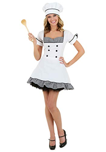 Plus Für Chef Kostüm Erwachsene - Plus Size Sexy Chef Kostüm - 2X