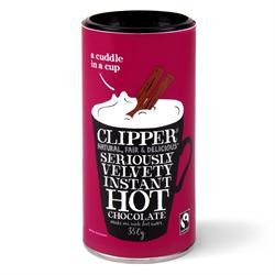 Clipper Tea - Chocolate - Fairtrade Seriously Velvety Instant Hot Chocolate - 350g