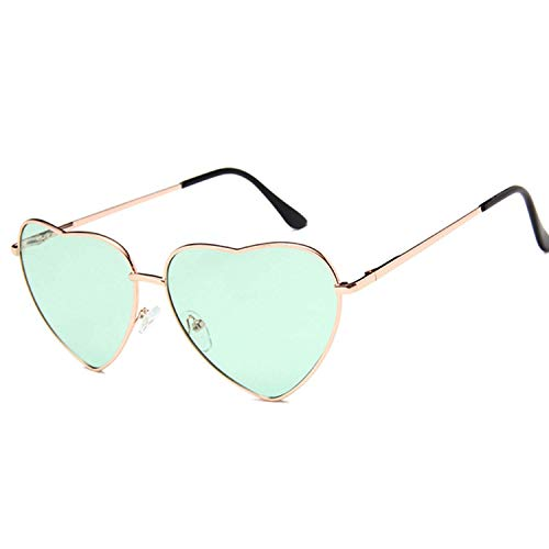 WERERT Sportbrille Sonnenbrillen Vintage Heart Sunglasses Women Candy Color Gradient Sun Glasses Outdoor Goggles Party