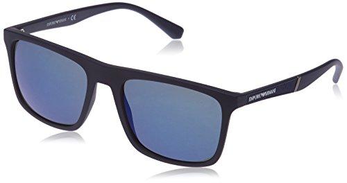 Emporio Armani Herren EA4097 Sonnenbrillen, Blau (Matte Blue), 56