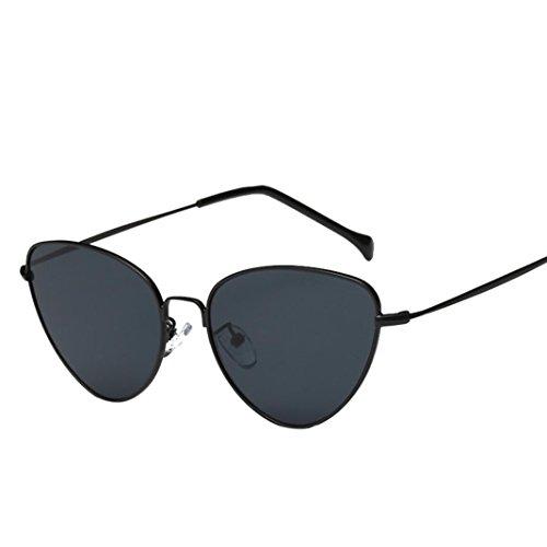 Zolimx Frauen Männer Sommer Weinlese Retro Katzenauge Brille Sonnenbrille (Und Brille Katzenaugen Weiß Schwarz Weinlese)