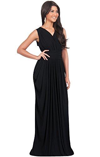KOH KOH® Femmes Robe Sans Manches Femme Demoiselle d'honneur Noir