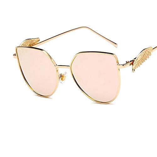 XIELH Sonnenbrillen Mode Flügel Feder Rosa Männer Frauen Sonnenbrillen Radfahren Angeln Skifahren Fahren Golf UV-Schutz Sonnenbrillen