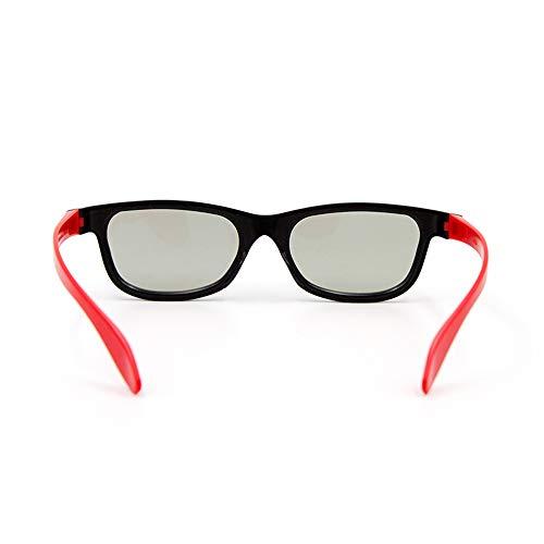 Gamogo G66 Passive 3D-Brille Polarisierte Gläser für Kino Leichte, tragbare zum Ansehen von Filmen