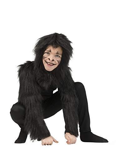 Luxuspiraten - Kinder Kostüm, Ganzkörper-Kostüm Affe Gorilla Monkey, perfekt für Halloween Karneval und Fasching, 164, ()