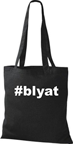 Shirtstown Stoffbeutel Hashtag #blyat schwarz