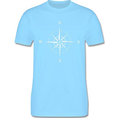 Statement Shirts - Kompassrose - Herren Premium T-Shirt Hellblau