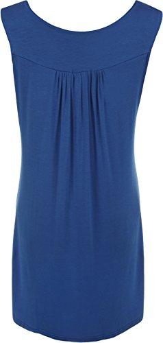 WearAll - Haut sans manches avec détail clouté sur la poitrine - Hauts - Femmes - Grandes tailles 40 à 54 Bleu