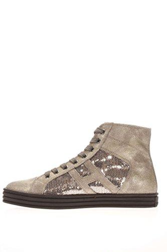 Hogan Rebel Femme Sneaker haute hxw1410p991dwe699F Sneaker haute R141Paillette Argilla