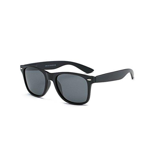 Polarized Sunglasses Women Men kids Ladies Unisex UV400 Protection Anti-glare with Case Retro Fashion Oversized Sunglasses for Sports Driving Fishing Skiing oval-Black Grey