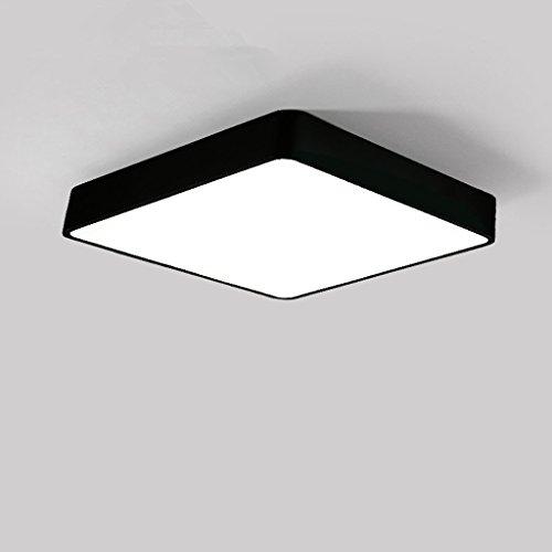 Nordische Art-Quadrat-Eisen-Lampen-Körper-Schwarz-Deckenleuchte, hohe lichtdurchlässige Acryllampen-Schatten-Korridor-Deckenlampe, kreativer Balkon-Wohnzimmer-Schlafzimmer-LED Deckenleuchten