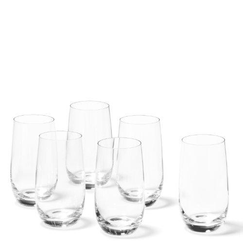 Leonardo Tivoli Becher groß, 6-er Set, 390 ml, spülmaschinenfest, Teqton-Kristallglas, 020965 Groß Becher