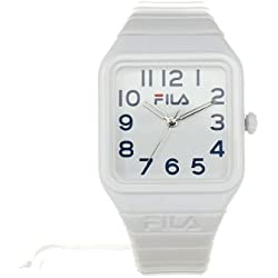 Fila Kids White Dial Watch FL38018003 White Plastic Strap