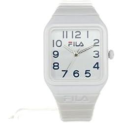 Fila Kids White Dial Watch FL38018003 White Plastic Strap