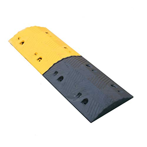 Buffer-Feng 7-cm-Gummi-Bremsschwelle, Multifunktions-Weg-Verzögerungsbogen-LKW-Geschwindigkeits-Reduzierer-Straße entlang der Steigung-Steigungs-Auflage (größe : 100 * 35 * 7CM) -