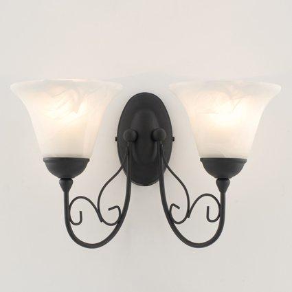 textured-black-twin-wall-light